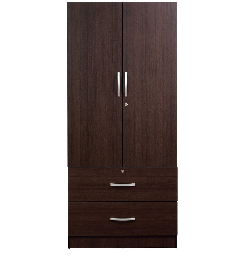 buy rikotu two door wardrobe with two drawers in wenge. Black Bedroom Furniture Sets. Home Design Ideas