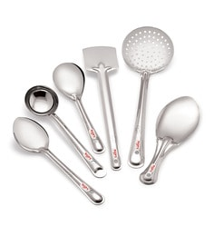 Roops Stainless Steel Small 6-piece Serving Spoon Set - 1436106