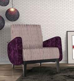 Ross Arm Chair In Purple Colour By Bent Chair