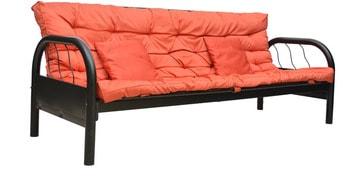 Rockford Metal Sofa Cum Bed In Mauve Colour