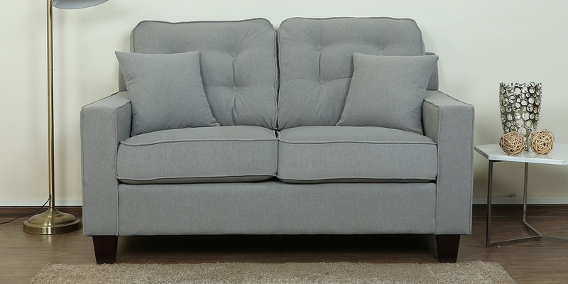 Rosario Two Seater Sofa in Ash Grey Color by CasaCraft