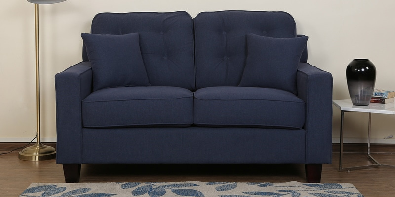 Rosario Two Seater Sofa in Navy Blue Color by CasaCraft