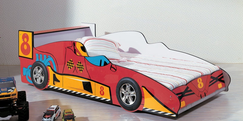 Rover Car Kids Single Bed in Red Colour by HomeTown
