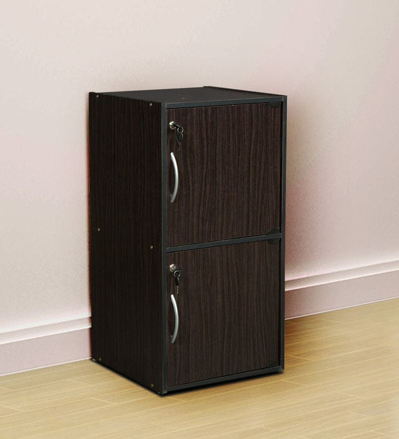 Rokuro Two Door Filing Cabinet with Lock in Light Cappuccino Finish by Mintwud