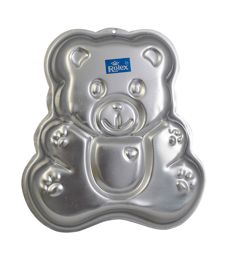 Buy Rolex Aluminium Cake Mould Pans Teddy Bear Medium 1 2 Kg Cake Online Baking Moulds Bakeware Pepperfry