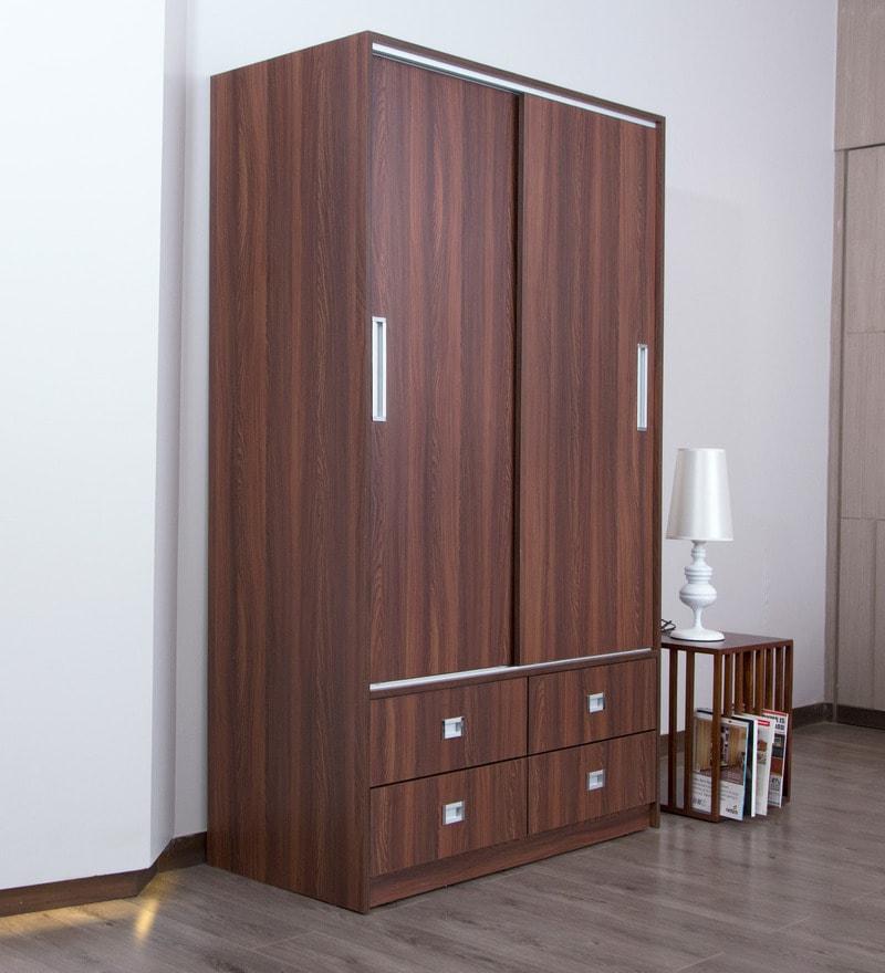 da509de0c7a Buy Slide N Store Plus Wardrobe in Wine Red Finish by Godrej Interio ...