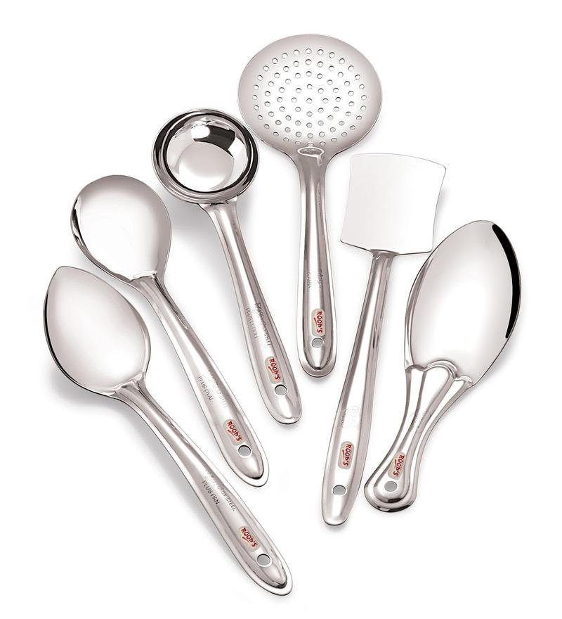 Roops Stainless Steel 6-piece Medium Serving Spoon Set