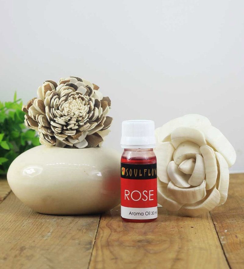 Rose Pebble Reed Diffuser by SoulFlower