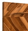 Brown Teak Wood Wall Shelf with Hooks for Wall Hanging by Divine Decor