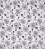 Gray & White Cotton Floral Double Bed Sheet Set (with Pillow Covers) by Rosepetal