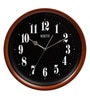 Black & Gold Wooden 13 Inch Round Ethnic Wall Clock by Rosetta