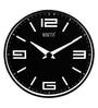 Rosetta Black Plastic 12 Inch Round Amuse Wall Clock