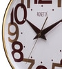 Gold Plastic 13 Inch Round Canyon Wall Clock by Rosetta