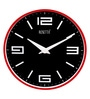 Red Plastic 12 Inch Round Amuse Wall Clock by Rosetta