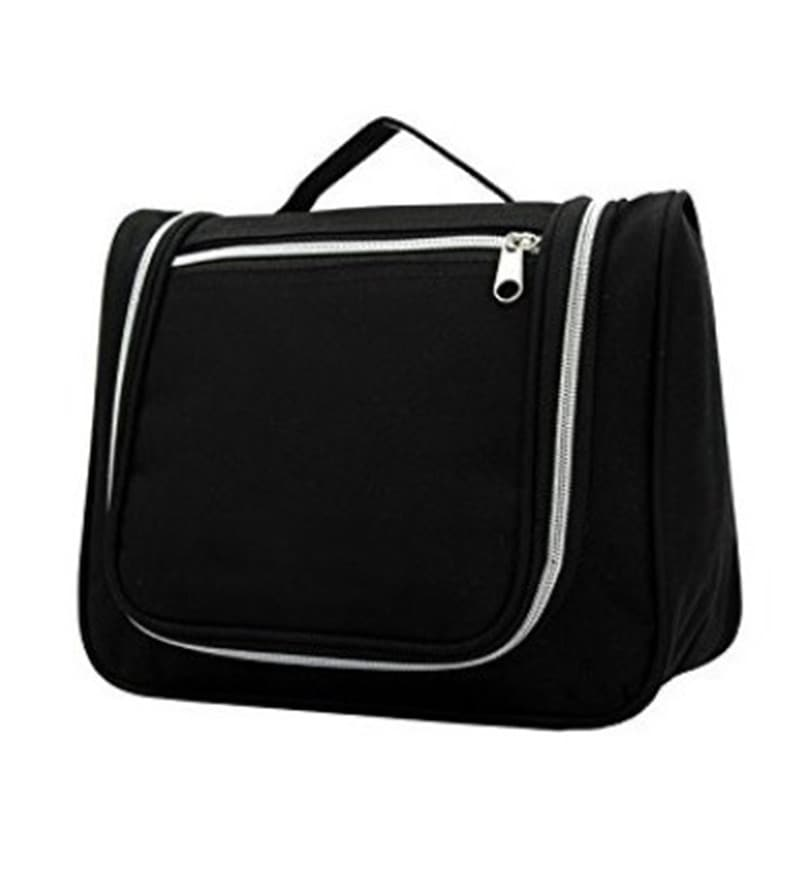 RUBY Canvas Black Travel Toiletry Bag with Handle