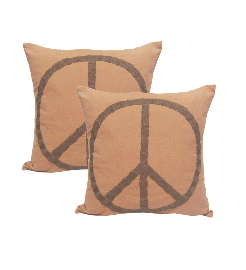 Rust Linen 20 x 20 Inch Cushion Covers - Set of 2 by R Home