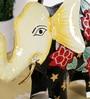 Rural Craft Multicolour Iron Elephant Showpiece
