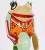 Rural Craft Multicolour Iron Frog Playing Musical Instrument Showpiece