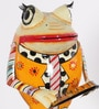 Rural Craft Multicolour Iron Frog Playing Saxophone Showpiece