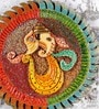 Rural Craft Multicolour MDF Ganesha Mural