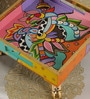 Rural Craft Multicolour MDF Hand painted Decorative Tray - Set of 3