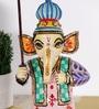 Rural Craft Multicolour MDF Lord Ganesha with Umbrella