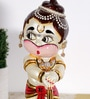 Rural Craft Multicolour Resin Bal Hanuman with Wooden Base