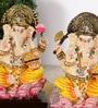 Rural Craft Multicolour Resin Ganesha