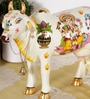 Rural Craft Multicolour Resin Lakshmi Ganesh Cow with Calf