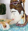 Rural Craft Multicolour Resin Lord Shiva Drinking Elixir Idol