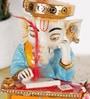 Rural Craft Multicolour Resin Muneem Ganesha