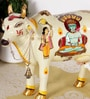 Rural Craft Multicolour Resin Parshwanath Cow with Calf