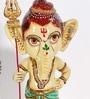 Rural Craft Multicolour Resin Trishul Ganesha