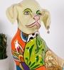 Rural Craft Multicolour Resin Watchman Dog Showpiece