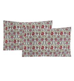 S9Home By Seasons Multicolour 100% Cotton 20 X 30 Inch Printed Pillow Cover - Set Of 2 - 1603100