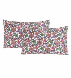 S9Home By Seasons Multicolour 100% Cotton 20 X 30 Inch Printed Pillow Cover - Set Of 2 - 1603114