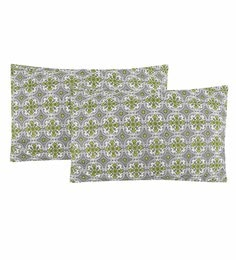 S9Home By Seasons Multicolour 100% Cotton 20 X 30 Inch Printed Pillow Cover - Set Of 2 - 1603107