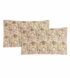 S9Home By Seasons Multicolour 100% Cotton 20 X 30 Inch Printed Pillow Cover - Set Of 2 - 1603104