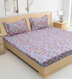 S9Home By Seasons Multicolour 100% Cotton 90 X 100 Inch Printed Bed Sheet With 2 Pillow Cover - 1603122