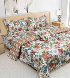 S9Home By Seasons Multicolour 100% Cotton 108 X 108 Inch Printed Bedding Set