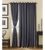 S9home by Seasons Black Door Curtains Polyester (Set of 2)