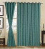 S9home by Seasons Blue Polyester Solid Window Curtain - Set of 2