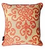 Gold & Orange Polyester 16 x 16 Inch Contemporary Cushion Cover with Piping - Set of 4 by S9home by Seasons