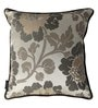 Grey Polyester 16 x 16 Inch Cushion Cover with Piping by S9home by Seasons