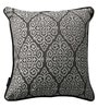 Grey Polyester 16 x 16 Inch Traditional Cushion Cover with Piping - Set of 4 by S9home by Seasons