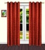 S9home by Seasons Red Polyester Floral Door Curtain - Set of 2
