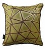 Mint & Chocolate Polyester 16 x 16 Inch Cushion Cover with Piping by S9home by Seasons