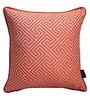 S9Home by Seasons Orange Polyester 16 x 16 Inch Cushion Cover with Piping - Set of 2