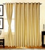S9Home by Seasons Yellow Polyester Geometric Curtain - Set of 2