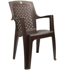 Saga Matt High Back Chair Set Of Two In Brown Colour